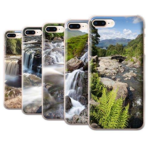 Stuff4 Hülle / Case für Apple iPhone 8 Plus / Felsigen Stream Muster / Wasserfälle Kollektion Pack 7pcs