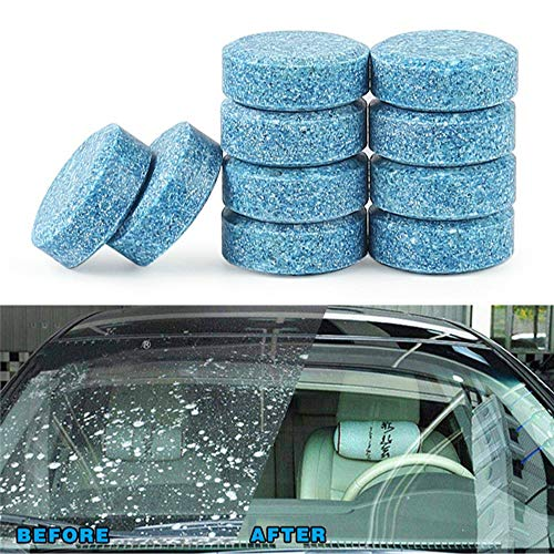 CTGYMGBQL 10pcs Car Wiper Tablet Window Glass Cleaning Cleaner Accessories High Carbon No Stain