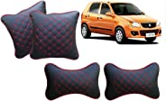 Auto Pearl Black Red Diamond Neck Rest with Cushion Set of 4 pcs. for - Alto K10