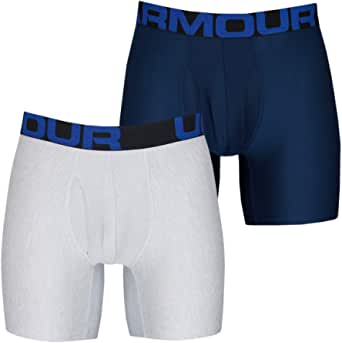 Under Armour Tech 6in 2 Pack, Men's Boxer Briefs Offering Complete Comfort, Fast-Drying Men's Underwear Men