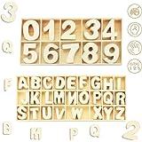 FAVENGO 216 pcs Letras Mayúsculas Madera y Numero de Madera Letras de Madera Decorativas y Numero del 0 al 9 Letras Mayúscula