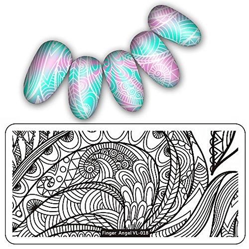 it Strass Glitzerpunkten - wunderschöne Motive Nagelsticker Nailsticker DIY Art Image Stamping Platten Maniküre Vorlage 3D Nagel Kunst Aufkleber Deko ()