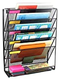 #4: Callas Metal Mesh Wall Mounted File Holder Organiser Literature Rack (Black)