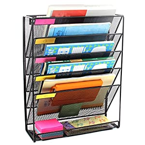Callas Metal Mesh Both Wall Mounted & Hanging File Holder Organiser Literature Rack, LD01-658