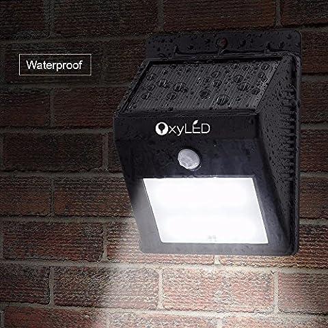 OxyLED Éclairage Extérieur Solaire 8 Led Lampe Sans Fil Capteur