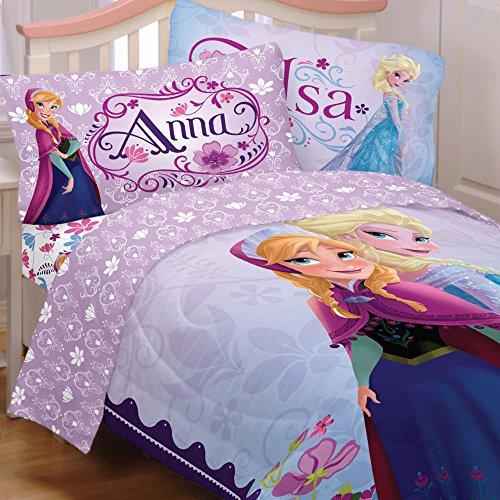 Floral Twin Tröster Set (Disney Frozen Twin Betten Set Anna Elsa Feiern Love Tröster und Blatt)