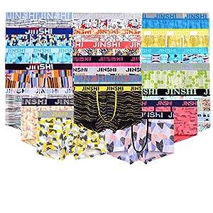JINSHI Herren Trunks Komfortable Unterhose