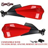 SONSOU Hand Guard Universal Compatible with KTM Duke 200/250/390, Honda CB Hornet, Pulsar, Apache & Bullet All Models (red)
