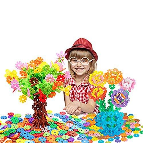 Preisvergleich Produktbild Edealing (TM) 400Pcs verriegelnde Plastikdisc pädagogische Bausteine verpackt für Kinder Kinder