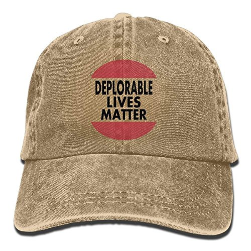 bd7eda96e8f Vintage Cap Hat Deplorable Lives Matter Six-Panel 3D Print Adjustable Baseball  Hat for Unisex