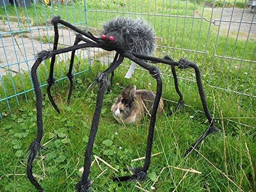 Halloween-Dekoration Tarantula mit Leuchtaugen (Spinne Tarantula)
