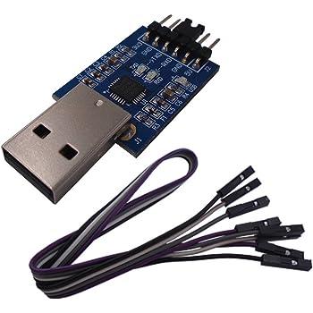 DSD TECH USB a TTL Convertitore seriale CP2102 con cavo a 4 pin Dupont Compatibile con Windows 7,8,10, linux, Mac OS