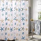LFF- Bad Starfish Wasserdicht Duschvorhang Umweltschutz Mehltau Kunststoff Duschvorhänge Wärme Partition Vorhang (Größe : 240X200cm)