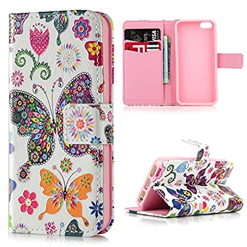 iPhone SE 5S 5 Case ,Lanveni 3D Relief Colorful Painting Cameo Flip Stand Cover Basso-Relievo PU Leather Wallet Shell Book Style Skin Pouch [Magnetic Closure] + Card Slots Protective Pocket For iPhone SE & iPhone 5S & iPhone 5