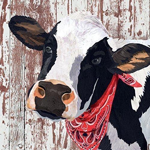 ferme vache noir blanc marron 3 épaisseurs 20 Papier Serviettes 13 \\