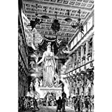 Pitaara Box PB Victorian Ancient Interior Of The Parthenon Athens Unframed Canvas Painting 18 x 26.6inch