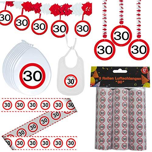 Dekoset 30. Geburtstag Dekopaket Partypaket Dekoration ()