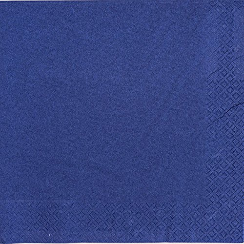Thali Outlet - 125 x Navy Blue 2 Ply 33cm 4 Fold Paper Napkins Tissue Serviettes For Birthdays Weddings Parties All Occasions by Thali Outlet Leeds