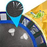 LBLA Kindertrampolin, Trampolin, mit verstellbarem Handlauf und gepolsterter Abdeckung Mini Faltbarer Bungee Rebounder, Innen- / Außentrampolin Maximale Gewicht Beträgt 60KG - 5