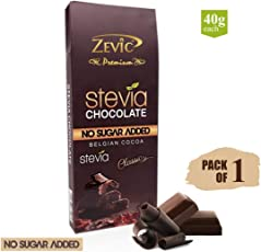 Zevic Classic Chocolate with Stevia, 40Gm