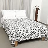 #8: Floral Dohar in Grey Color, 100% Cotton, Made in India, Size 86x86 inches.