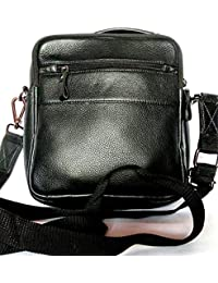 Star Exports Men's Cow Nappa Leather Bag Black