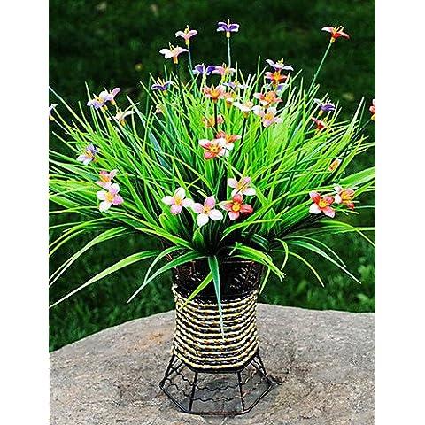 En la decoración del hogar de flores artificiales, plantas plásticas Flores artificiales , color rojo.
