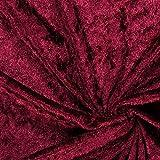Fabulous Fabrics Pannesamt Bordeauxrot - Weicher SAMT Stoff