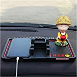 HSR Multifunction Phone GPS Holder Anti Slip Silicone Pad and Car Mobile Holders for Car Dashboard