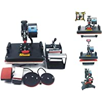 SimmSimm Heat Press 5 in 1 Digital Multi Functional Sublimation, Vinyl Printing Machine for T-Shirts (Any Flat Product…