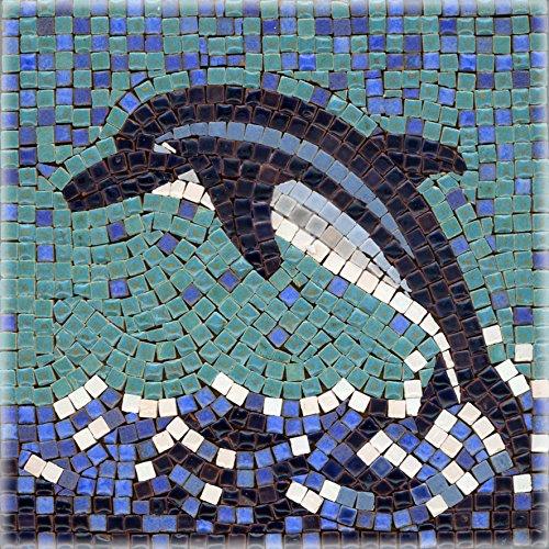 ALEA Mosaic Mosaic Kit 5.9'' Square, 15x15cm, Dolphin