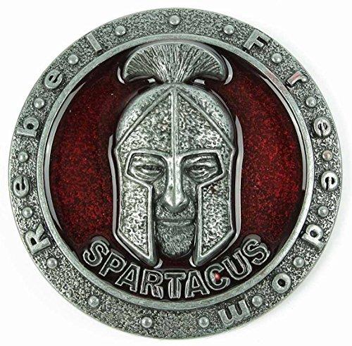 Preisvergleich Produktbild Spartacus Metall Gürtelschnalle Rot Emaille