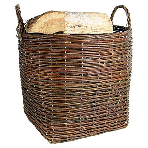 Rústicos con forma marrón resistente cesta de mimbre