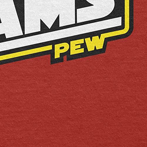 Texlab–Pew Pew Laser Beams–sacchetto di stoffa Rot