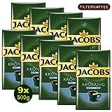 Jacobs KRÖNUNG MILD gemahlen 9x 500g (4500g) - Jacobs Filterkaffee, Kaffee