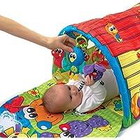 Playgro 0183775 - Alfombra de juego y gimnasio, diseño Perrito Musical
