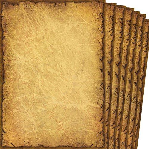 TATMOTIVE Alt Casanova / Hochwertiges Briefpapier 90g DIN A4 Beidseitig / 20 Blatt, braun