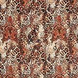 Fabulous Fabrics Jersey Stoff Scuba Ornament Leo – Kupfer
