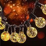 BLOOMWIN Guirnalda de luces bombillas Cadena de Luz impermeable 220V 3W IP65 25pcs G40 bombillas Blanco c225;lido Perfecto para Navidad Fiestas Boda Jard237;n Dormitorio exterior interior
