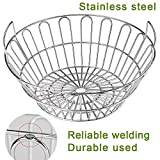 SELEWARE Innovative Stainless Steel Lump Charcoal Fire Basket, Grill Baskets for The Large