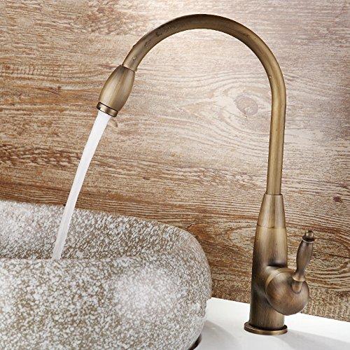 Faucat Alle Bronze Heiß Und Kalt, Nachahmung Europäische Küche Wasserhahn, Spüle, Geschirr - Becken Wasserhahn,9 000 Und 60 - Dusche Wasserhahn, Konverter Spüle,