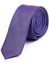 DonDon stylische schmale Krawatte 5 cm - von Hand gefertigt mehrere Farben
