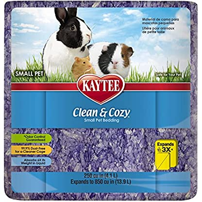 Kaytee Clean & Cozy Super Absorbent Paper Bedding for Cages, Hamster, Gerbil, Mice, Rabbit, Guinea Pig, 12.3 Litre… 1