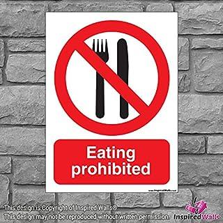 2x Essen verboten?Gesundheit & Sicherheit Warnung Verbot Schild Aufkleber