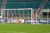 Fußballtor - Bundesliga - 7,32 x 2,44 m - freie Netzaufhängung, Farbe:mattsilber