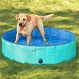 [mia.home®]Doggy Pool Hundepool Swimmingpool für Hunde Grün 80/120/160 CM (160x30cm)