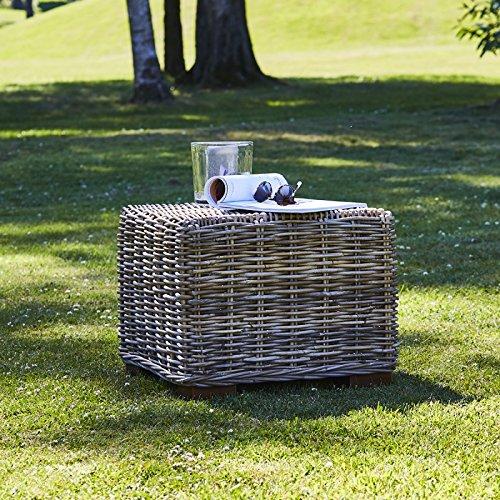 Bois Dessus Bois Dessous Table Basse Carrée en kubu Naturel