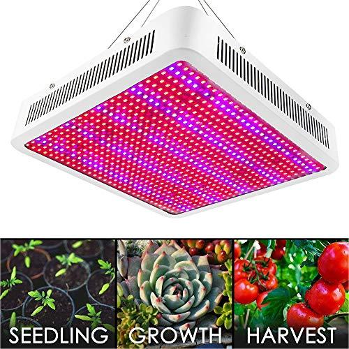 Full Spectrum Reflektor (LED Pflanzenlampe XJLED 800W LED Pflanzenleuchte Full Spectrum 800 PCS 2835 SMD Pflanzen Wachstumslampe Pflanzenlicht Wuchslampen Innengarten Pflanze wachsen Licht Hängeleuchte für Zimmerpflanzen Blumen und Gemüse)