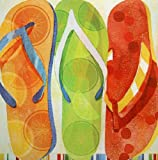 Fertig-Bild - Mary Escobedo: Beach Flip Flops 30 x 30 cm