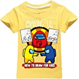 JDSWAN Unisex Niños Camiseta de Manga Corta Impresión de 'AMONGUS' Camiseta Casual T-Shirt Tops de Verano Comodidad del algod